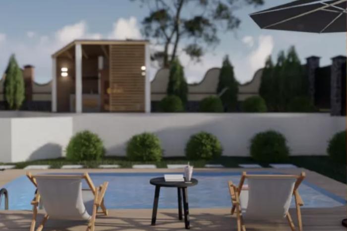 проект архітектура - банний будинок